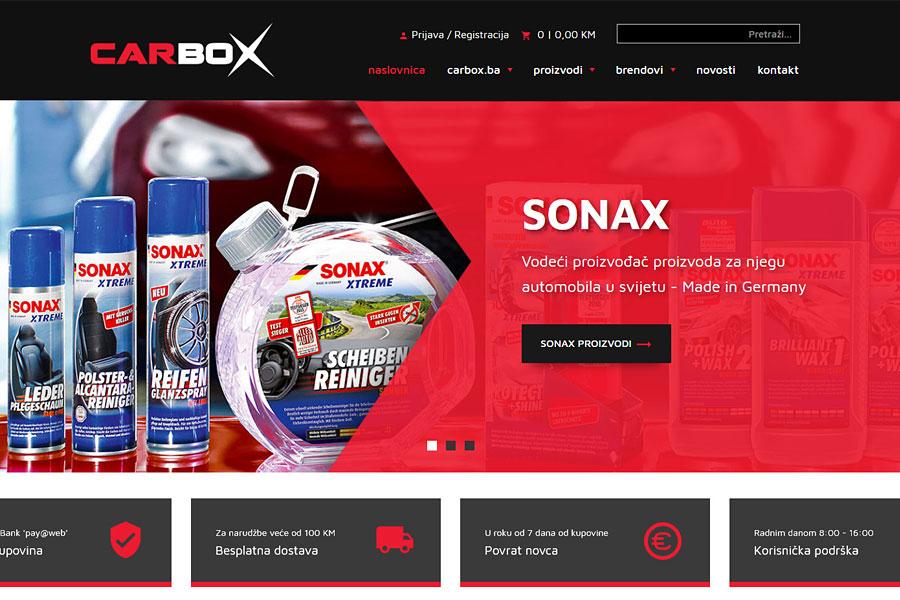 Nove webshop stranice www.carbox.ba